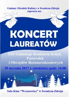 Koncert Laureatów XIX Gminnego Konkursu Kolęd Pastorałek i Obrzędów Bożonarodzeniowych