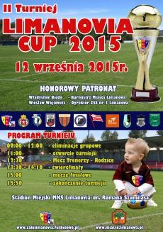 """II Turniej Piłkarski """"LIMANOVIA ŻAK CUP 2015"""" o Puchar Burmistrza Miasta Limanowa"""