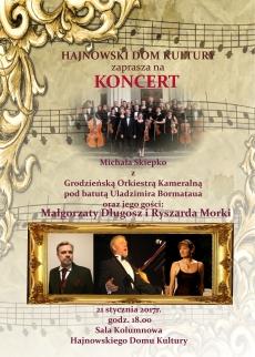 Koncert Michała Skiepko z Grodzieńską Orkiestrą Kameralną pod batutą Uladzimira Bormataua