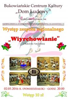 """Występ zespołu regionalnego """"Wiyrchowianie"""""""