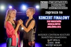 Koncert finałowy XVIII warsztatów musicalowych ASM M. Pawłowskiego