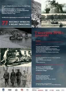 Uroczyste obchody 77. rocznicy wybuchu II Wojny Światowej