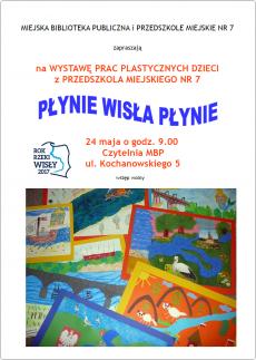 Płynie Wisła, płynie - wystawa prac plastycznych dzieci