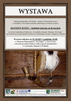 "Wernisaż wystawy ""KLENOTY KYSÚC – hudobné nástroje na Kysuciach"""