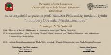 Zapraszamy na spotkanie z prof. Wandą Półtawską