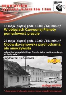 """Majowe spotkania Nowotarskiego Klubu Miłośników Filmów """"Milczenie owiec"""""""