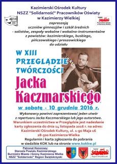 XIII Przegląd Twórczości Jacka Kaczmarskiego