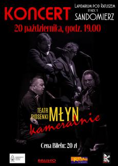 Koncert autorskiej poezji śpiewanej w wykonaniu Teatru Piosenki MŁYN