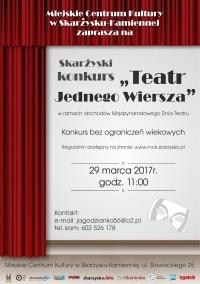 """Skarżyski konkurs pt. """"Teatr Jednego Wiersza"""""""