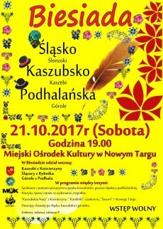Biesiada Śląsko-Kaszubsko-Podhalanska w Miejskim Ośrodku Kultury w Nowym Targu