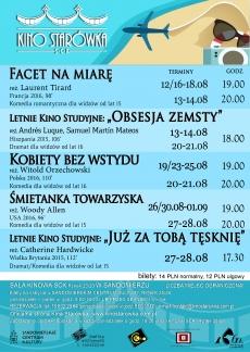 """Wakacyjny repertuar """"Kina Starówka"""" w Sandomierzu"""