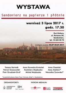 """Wystawa pt. """"Sandomierz na papierze i płótnie"""""""