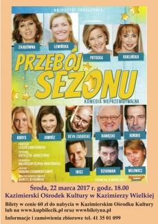 """""""Przebój sezonu - komedia nieprzewidywalna"""" w Kazimierzy Wielkiej"""