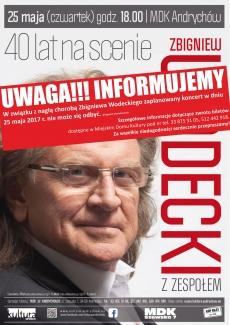 """Koncert: Zbigniew Wodecki z zespołem – """"40 lat na scenie"""""""