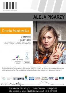 Spotkanie autorskie z Dorotą Masłowską połączone z odsłonięciem dedykowanej jej płyty w oświęcimskiej Alei Pisarzy