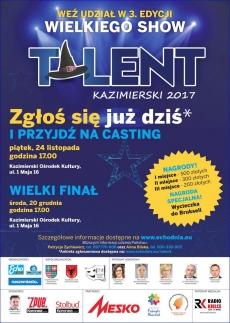 """Casting do show """"Talent Kazimierski 2017"""""""
