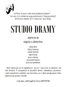 Edukacja artystyczna - STUDIO DRAMY