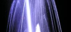 Kolorowa fontanna w Dusznikach-Zdroju