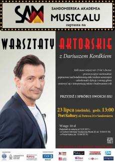 Warsztaty aktorskie z Dariuszem Kordkiem