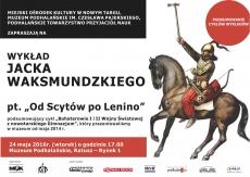 """""""Od Scytów po Lenino"""" - wykład Jacka Waksmundzkiego w MP"""