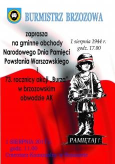Gminne Obchody Narodowego Dnia Pamięci Powstania Warszawskiego