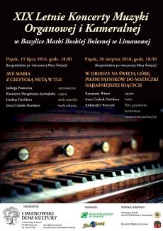 W piątek XIX Letnie Koncerty Muzyki Organowej i Kameralnej