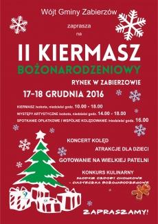 II Kiermasz Bożonarodzeniowy - Rynek w Zabierzowie - 17-18 grudnia 2016