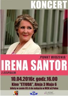 Koncert Ireny Santor w Ostrowcu Świętokrzyskim