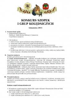 Konkurs Szopek i Grup Kolędniczych 2015