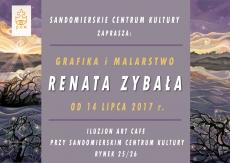 """Wystawa """"Grafika i malarstwo"""" autorstwa Renaty Zybały"""