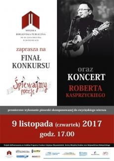 Miejska Biblioteka Publiczna im. ks. Jana Kruczka w Myślenicach: Koncert Roberta Kasprzyckiego