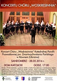 Koncert Chóru Woskresinnia