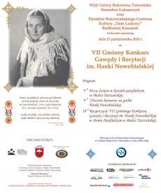 VII Gminny Konkurs Gawędy i Recytacji im. Hanki Nowobielskiej