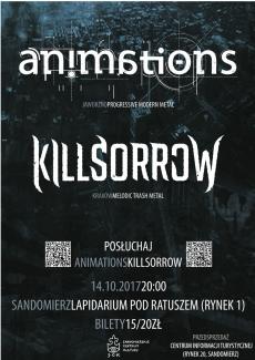 Koncert zespołów Animations i Killsorrow