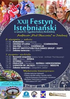 XXII Festyn Istebniański w ramach 53. Tygodnia Kultury Beskidzkiej