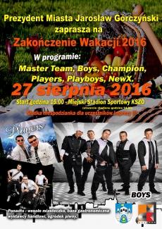 """Koncert """"Zakończenie Wakacji 2016"""" na Stadionie Miejskim KSZO w Ostrowcu Świętokrzyskim"""