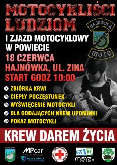 """I Zjazd Motocyklowy w Powiecie Hajnowskim """"MOTOCYKLIŚCI LUDZIOM"""""""