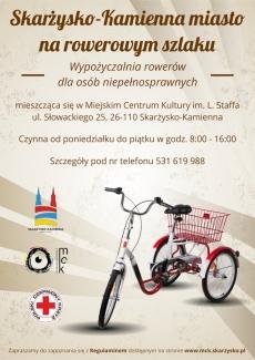 Wypożyczalnia rowerów dla osób niepełnosprawnych w MCK