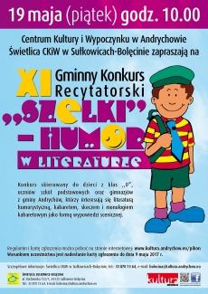 "XI Gminny Konkurs Recytatorsk ""Szelki"" – humor w literaturze"