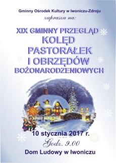 XIX Gminny Przegląd Kolęd Pastorałek i Obrzędów Bożonarodzeniowych