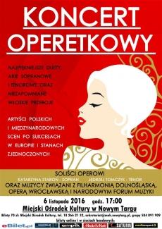 Koncert Operetkowy w Nowy Targu
