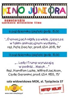 FILMOWE PIĄTKI - Kino Juniora