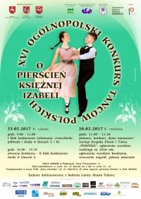 """XVI Ogólnopolski Konkurs Tańców Polskich """"O Pierścień Księżnej Izabeli"""""""