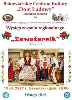 """Występ zespółu regionalnego """"Zawaternik"""""""