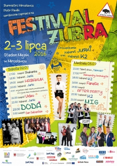 plakat Festiwal Żubra 2016