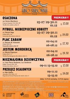 "Repertuar ""Kina Starówka"" w Sandomierzu"