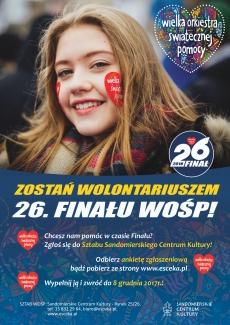 Rusza rejestracja wolontariuszy WOŚP 2018!