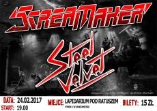 Koncert Scream Maker, Steel Velvet & Crystal Tendom
