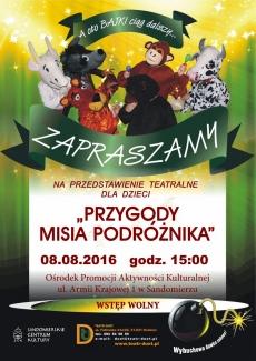 Przedstawienie teatralne PRZYGODY MISIA PODRÓŻNIKA