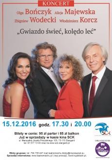 Koncert kolęd i pastorałek z udziałem gwiazd polskiej estrady godz. 20.00